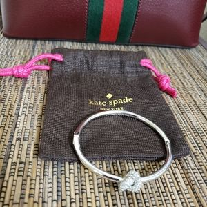 Kate Spade Sailor's  Knot Pave Crystal Bracelet